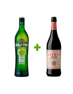 Vermut Lustau Rojo + Noilly Prat